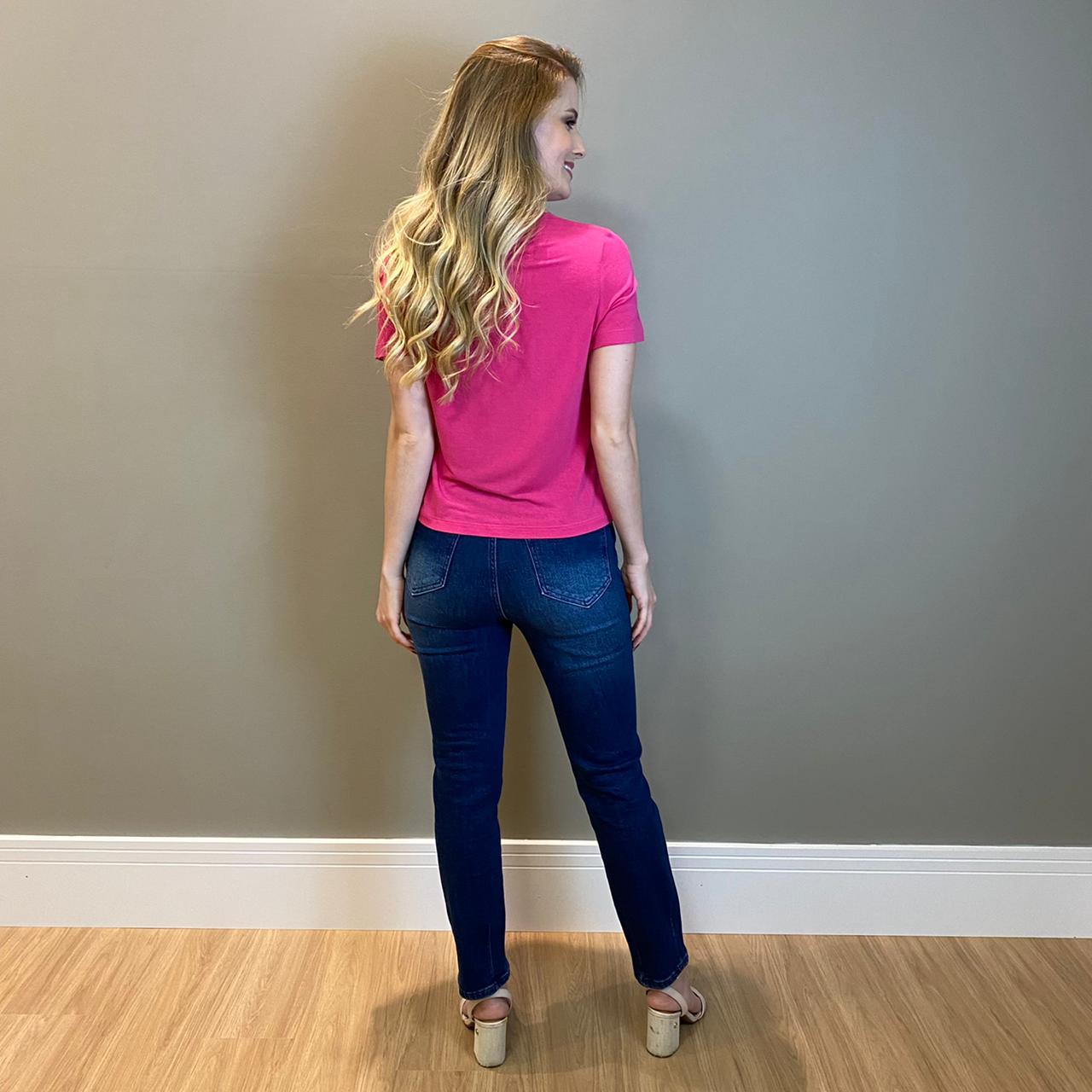 Blusa c/ recortes e amarração Pink -