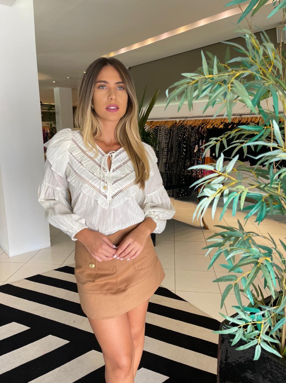 Blusa margareth Off white -