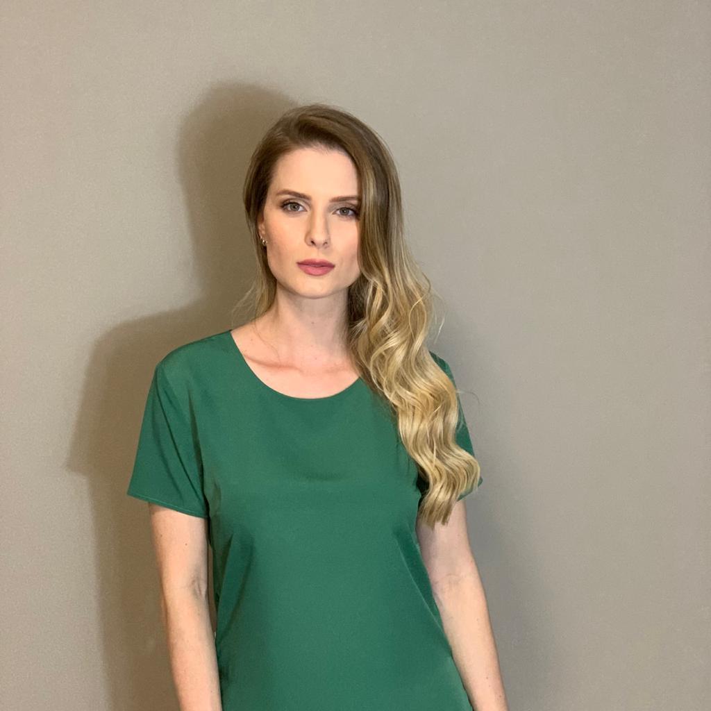 Blusa mg curta cdc Verde -