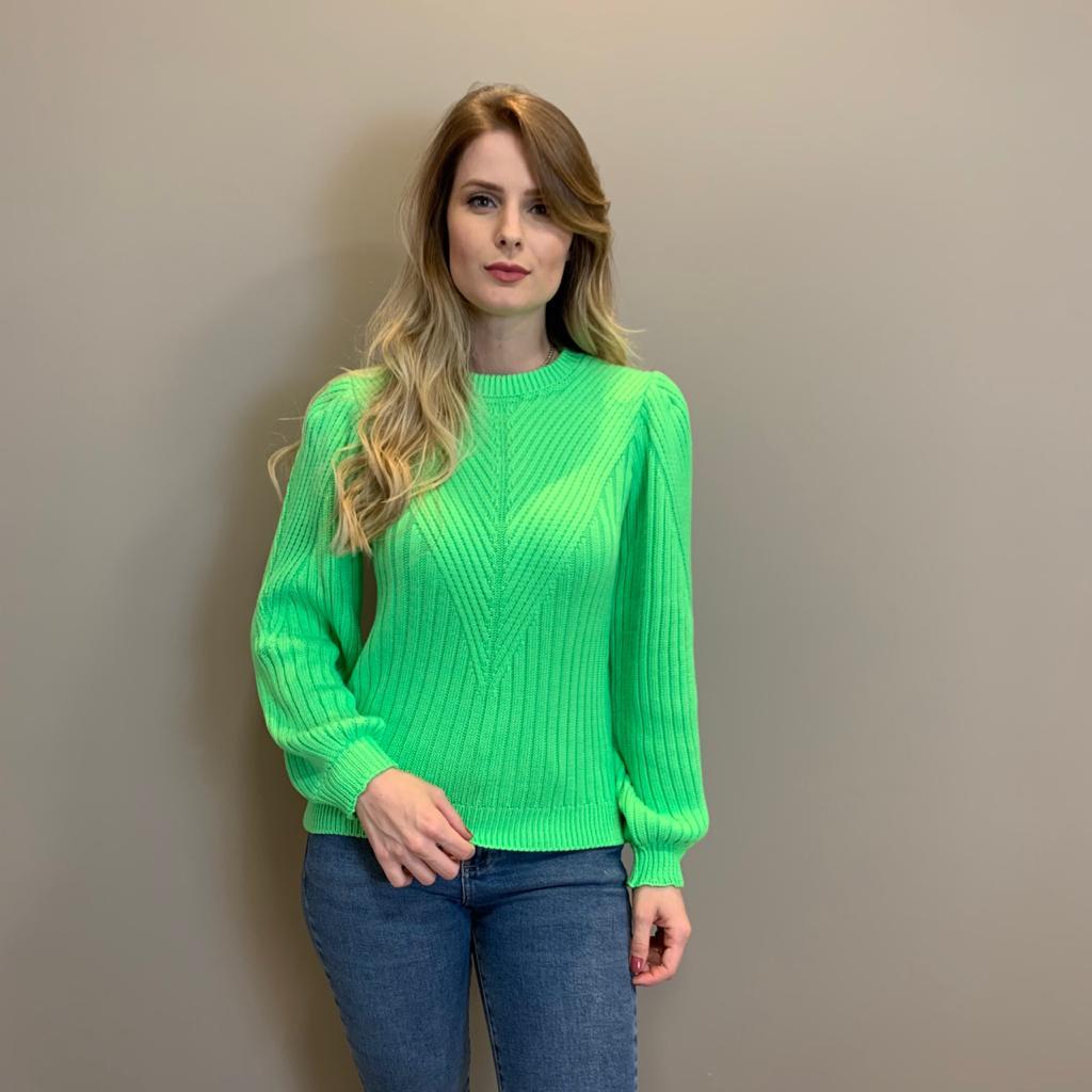 Blusa trico trama Verde -