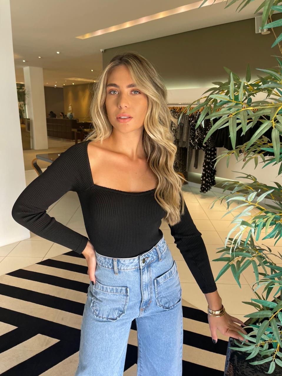 Calça jeans blanca Azul -