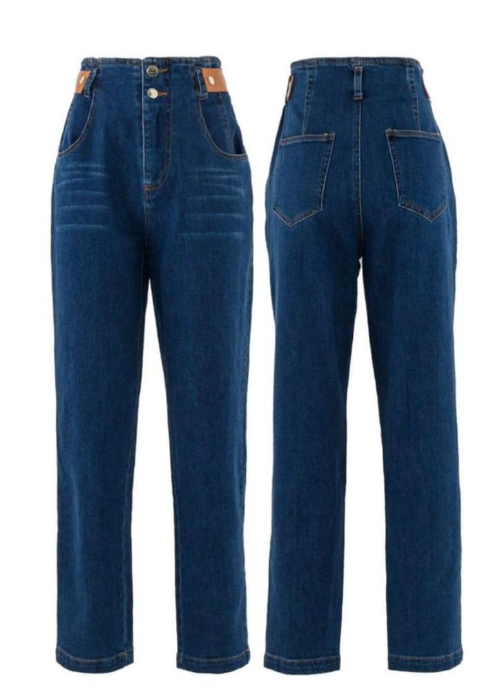 Calça jeans det martigale no cos Azul -