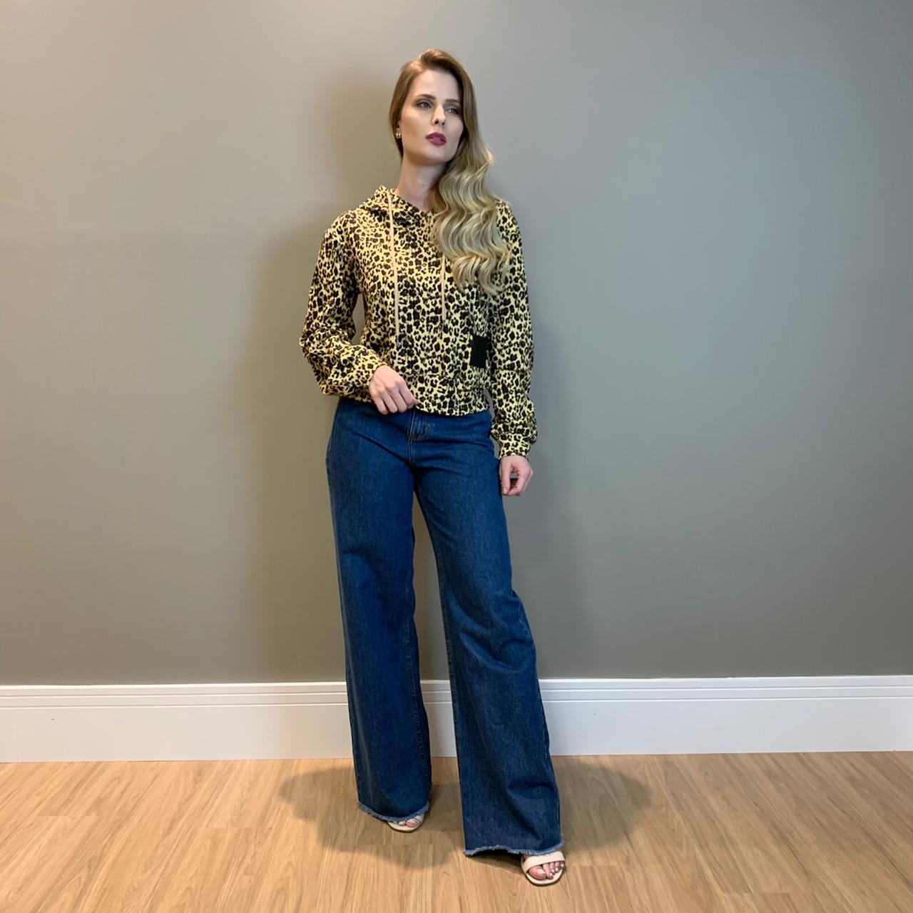 Calça jeans reta pence Azul escuro -
