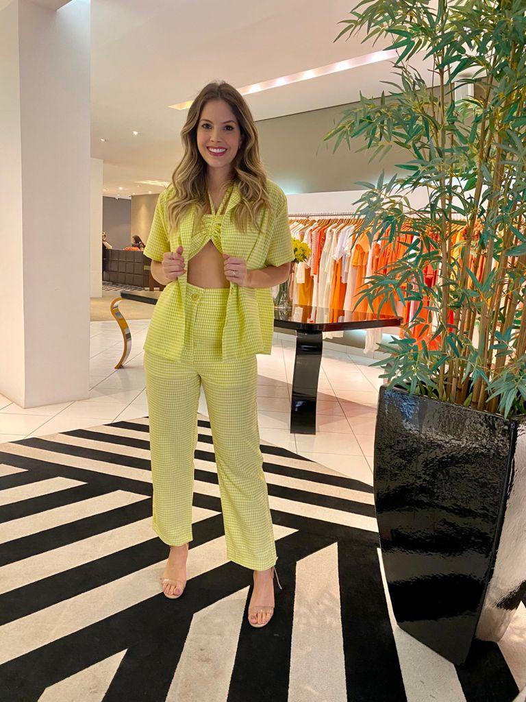 Camisa ampla xadrez Verde -