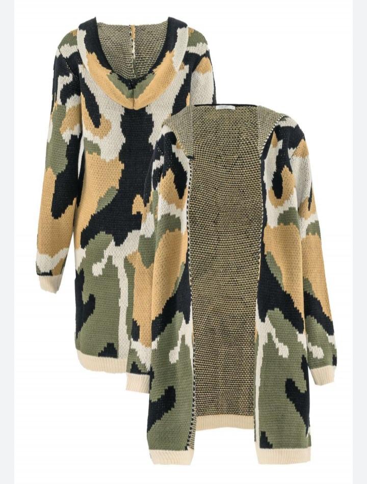 Cardigan camuflado Verde -