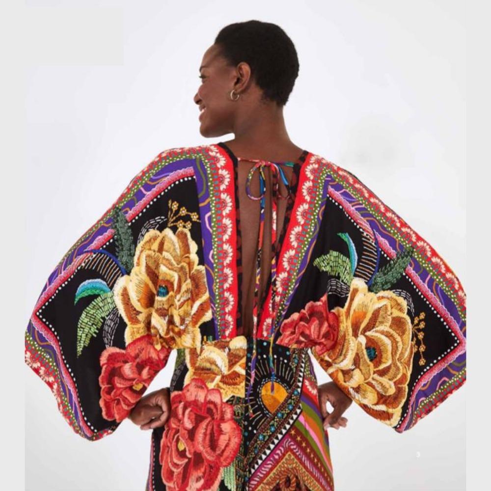 Macacão mistura de lenço colorido