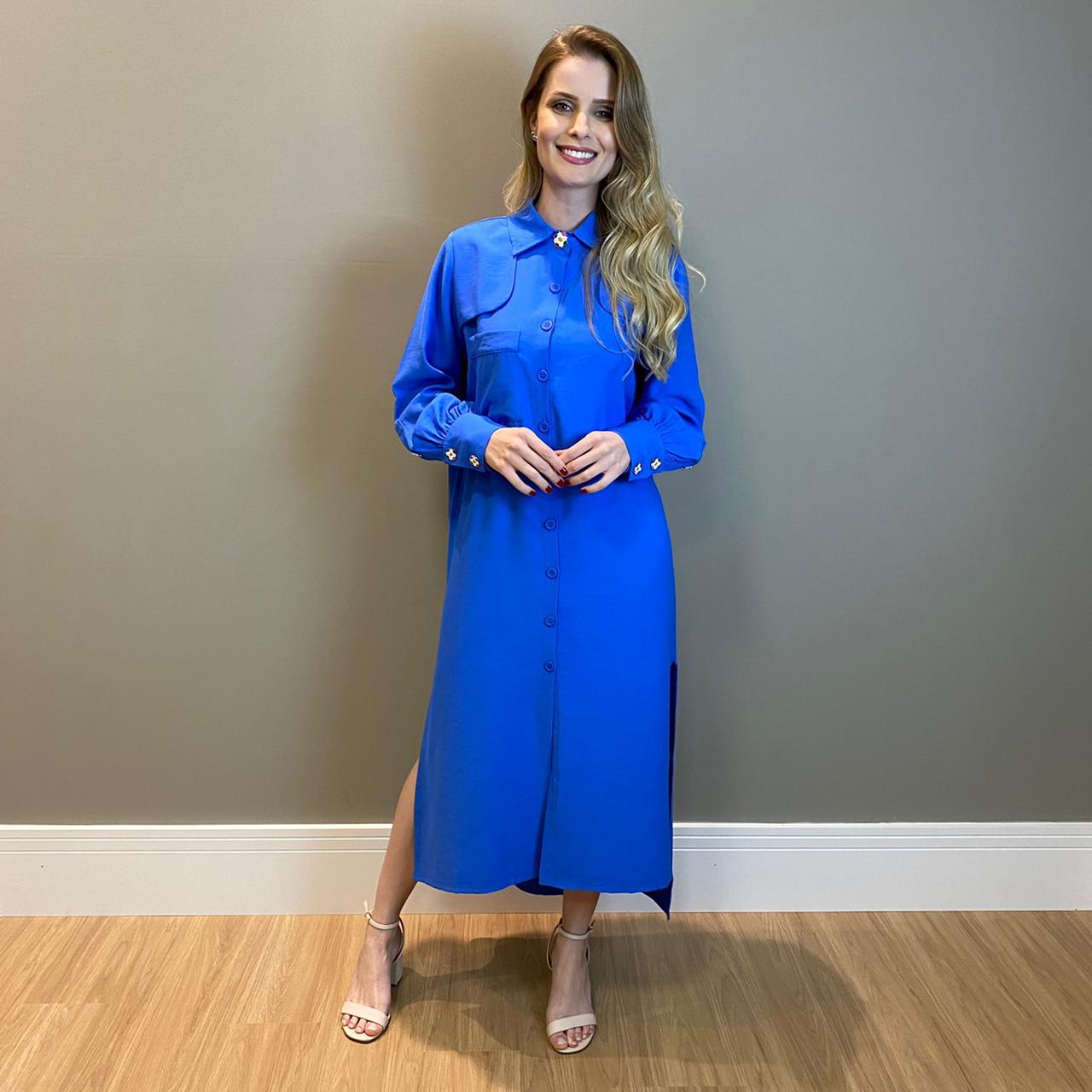 Maxi chemise Noronha fendas Bic -