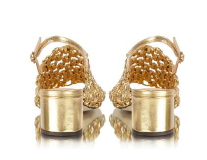 Sandália metalcolor Ouro -