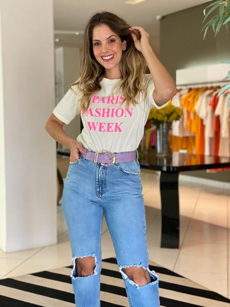 T-shirt Paris fashion week Off White -
