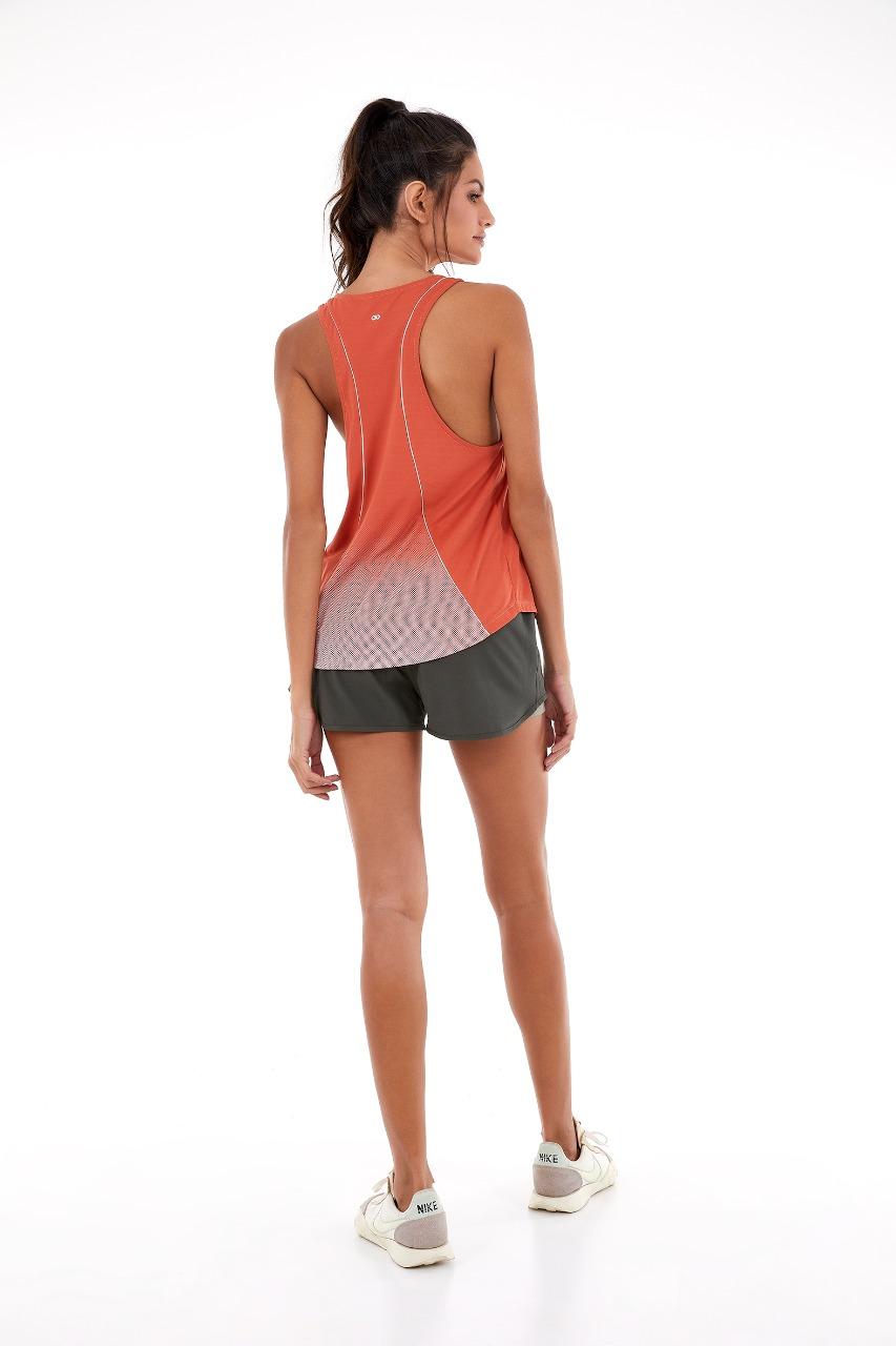 T-shirt skin fit make it fun Laranja Ginger -