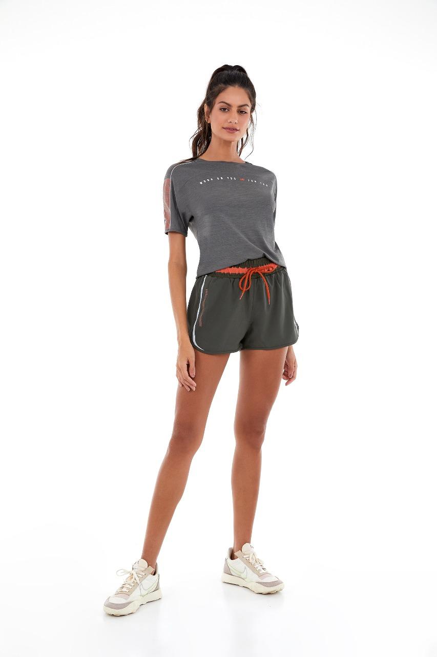 T-shirt skin fit mescla work on you Verde kalamata -