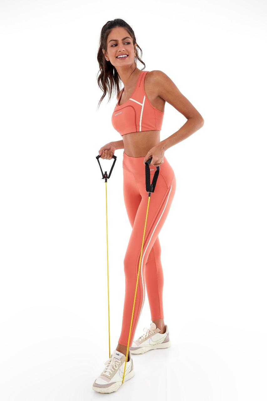Top hyper costas nadador Laranja ginger -