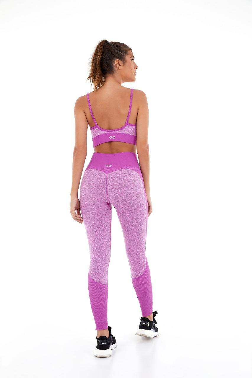 Top sem costura mescla colors Pink orchid -