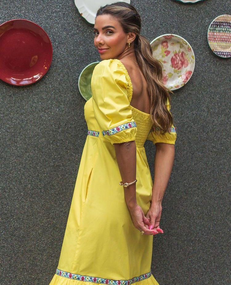 Vestido abigail Amarelo -