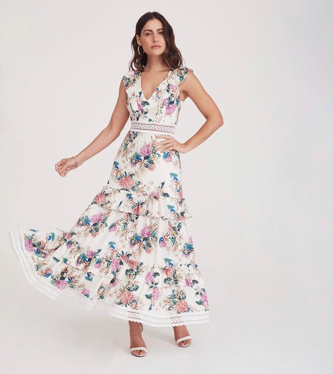 Vestido babados Florido -