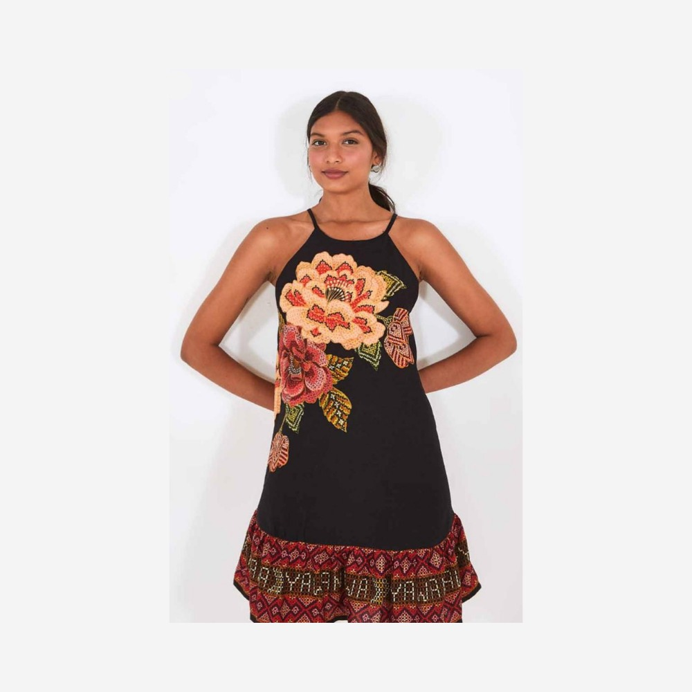 Vestido curto yawanawa preto