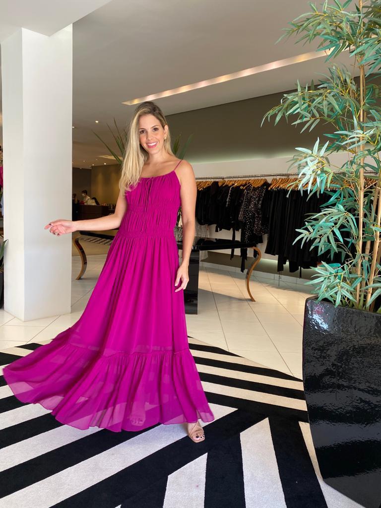 Vestido elizabeth Fucsia -