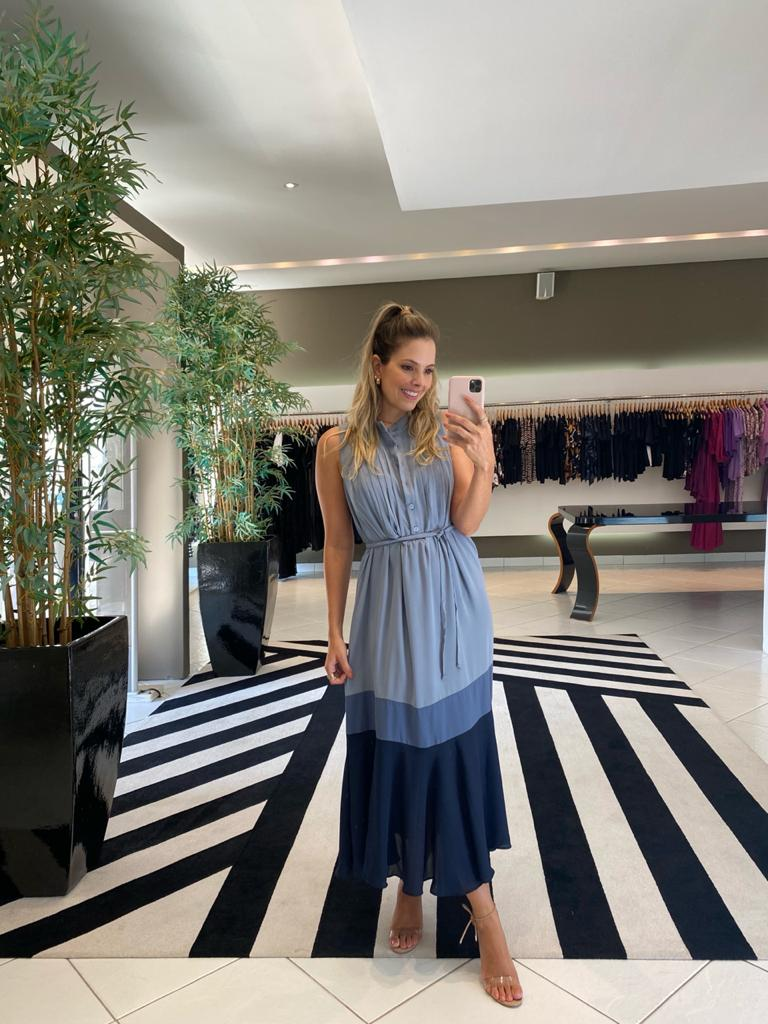 Vestido emiliana colors Azul -