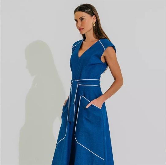 Vestido Estônia Azul jeans -