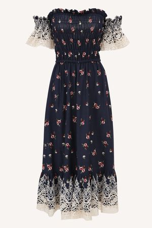 Vestido Florença Azul Marinho -