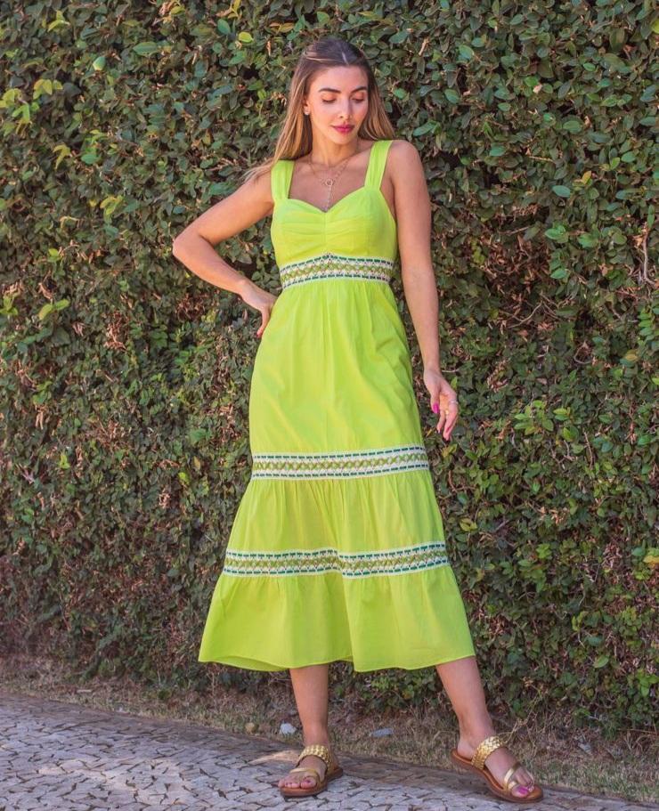 Vestido Flory Verde -