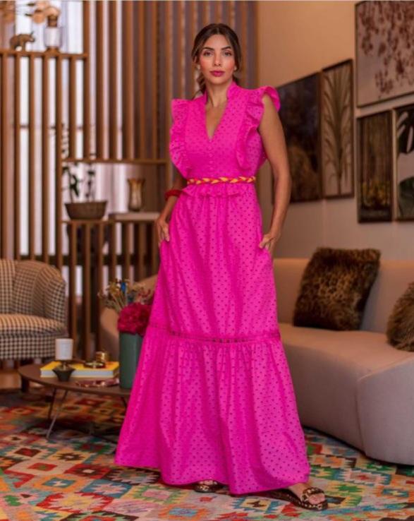Vestido Giovana Rosa -