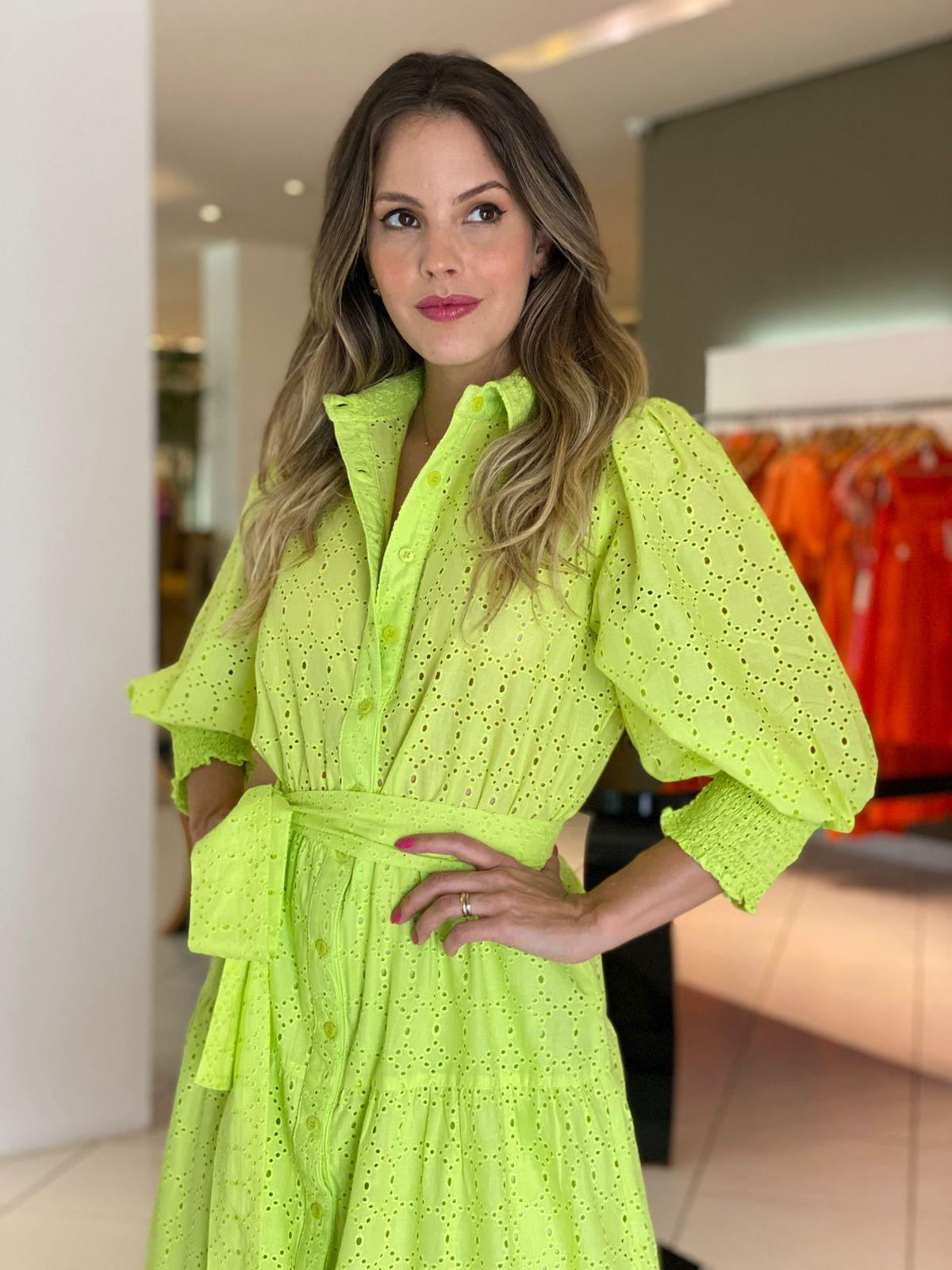 Vestido Lavínia com mg em lasie Lima -
