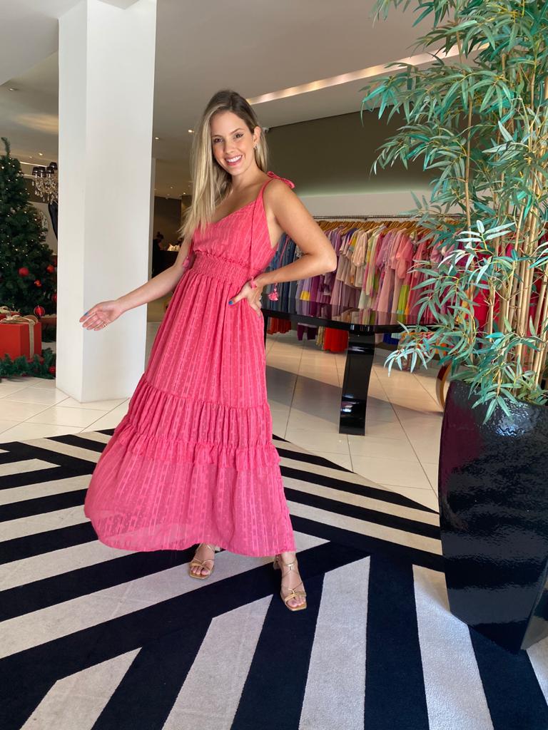 Vestido lina Goiaba -