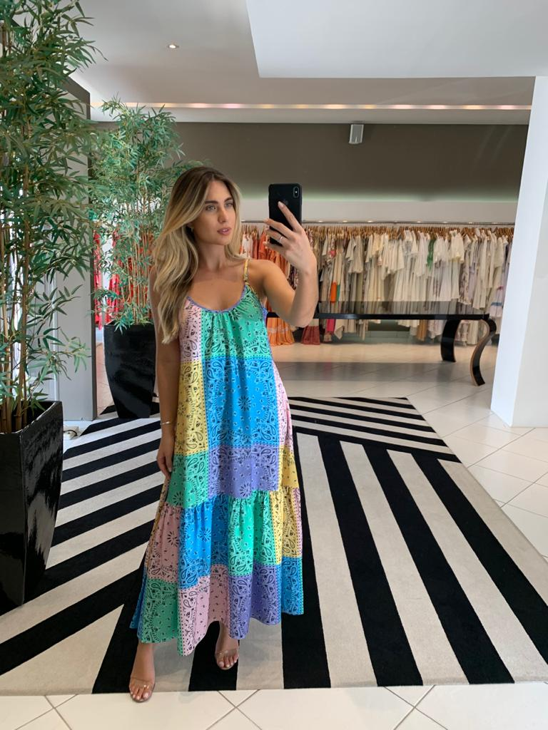 Vestido longo Kemilly colors -