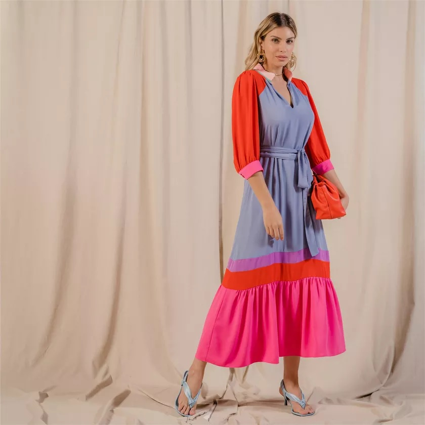 Vestido Maria clara Colors -