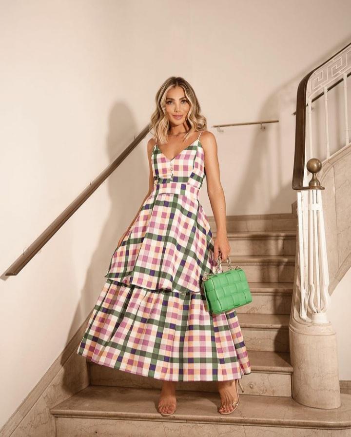 Vestido new look xadrez Color -