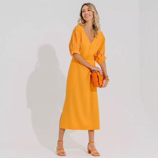 Vestido Olimpia Laranja -