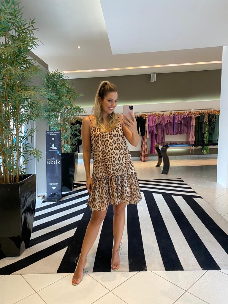 Vestido onça elle Animal print -
