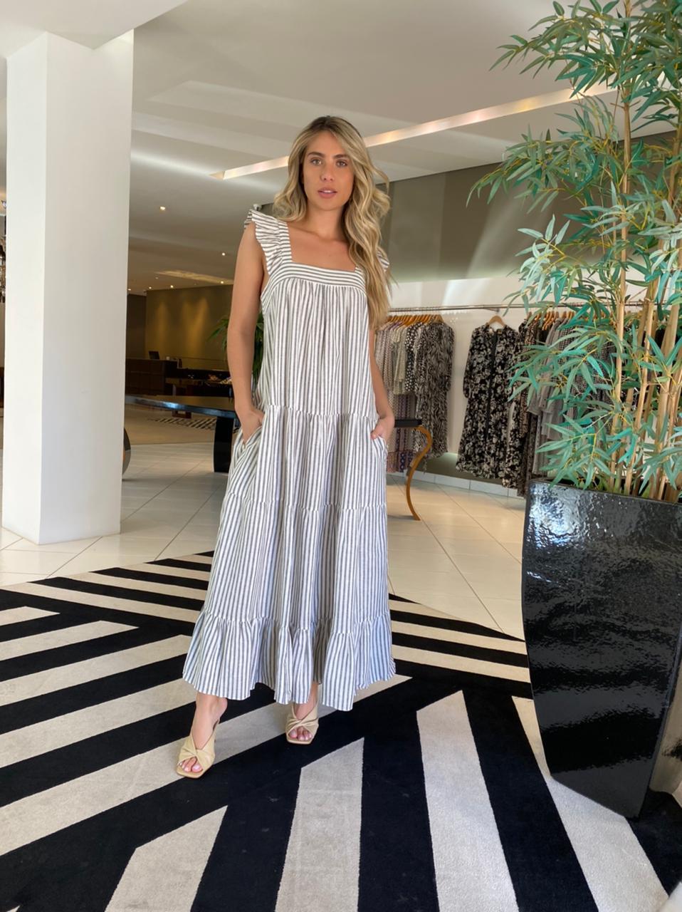 Vestido Samantha Off/Preto -