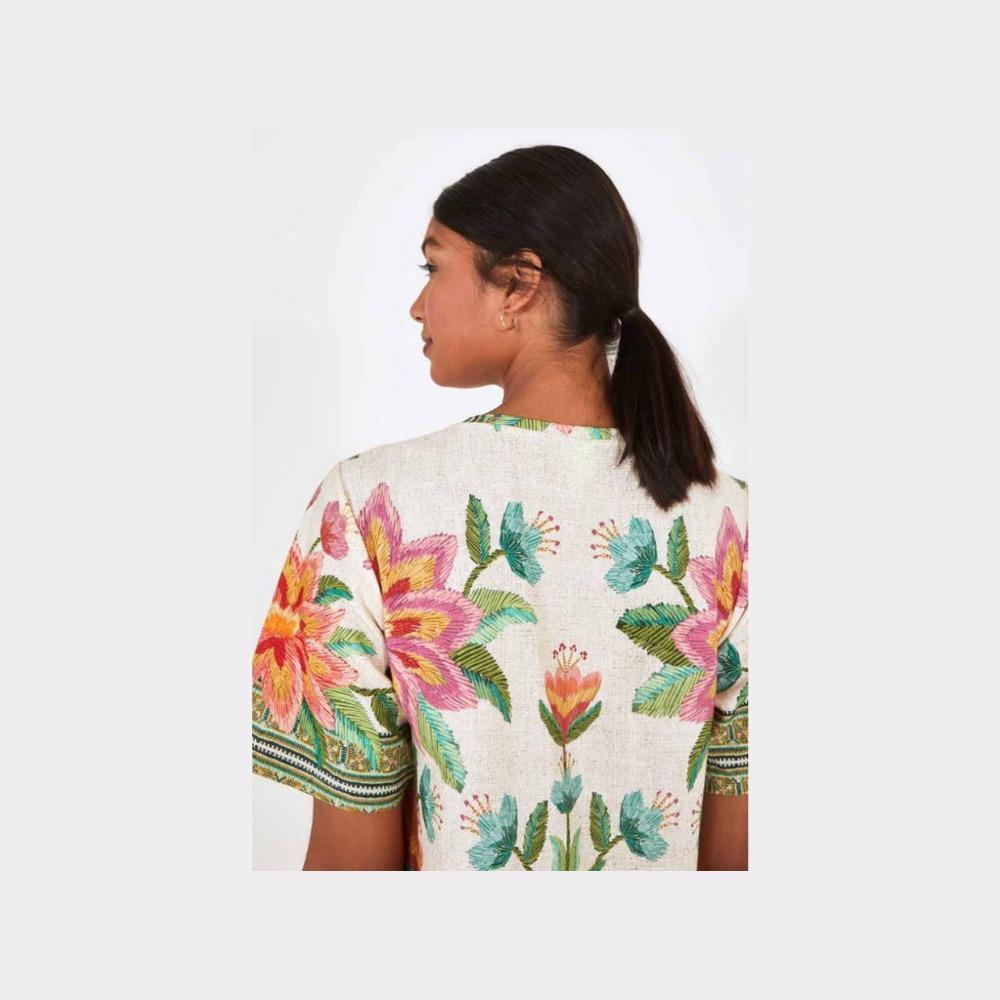 Vestido t-shirt araris bege