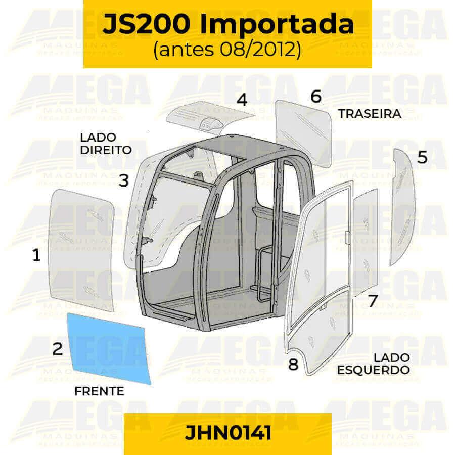 Vidro Frontal Inferior JCB JS200 Até 08/2012 JHN0141