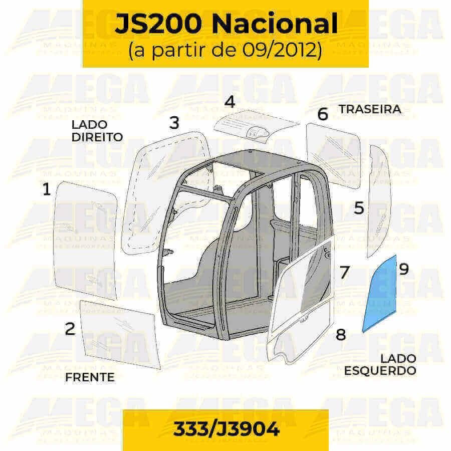 Vidro Janela Móvel da Porta JS200 (A Partir de 09/2012) 333/J3904