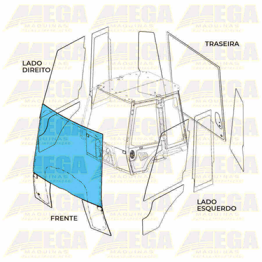 Vidro Parabrisa Dianteiro 3CX 332/F4944 332F4944