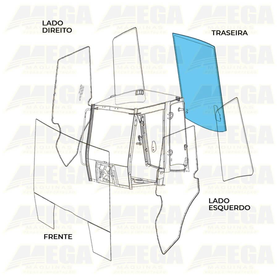 Vidro Vigia Parabrisa Traseiro Retroescavadeira JCB 4CX 827/80310 82780310
