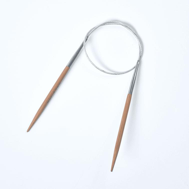 Agulha Para Tricô Circular Bambu Made By You_40cm