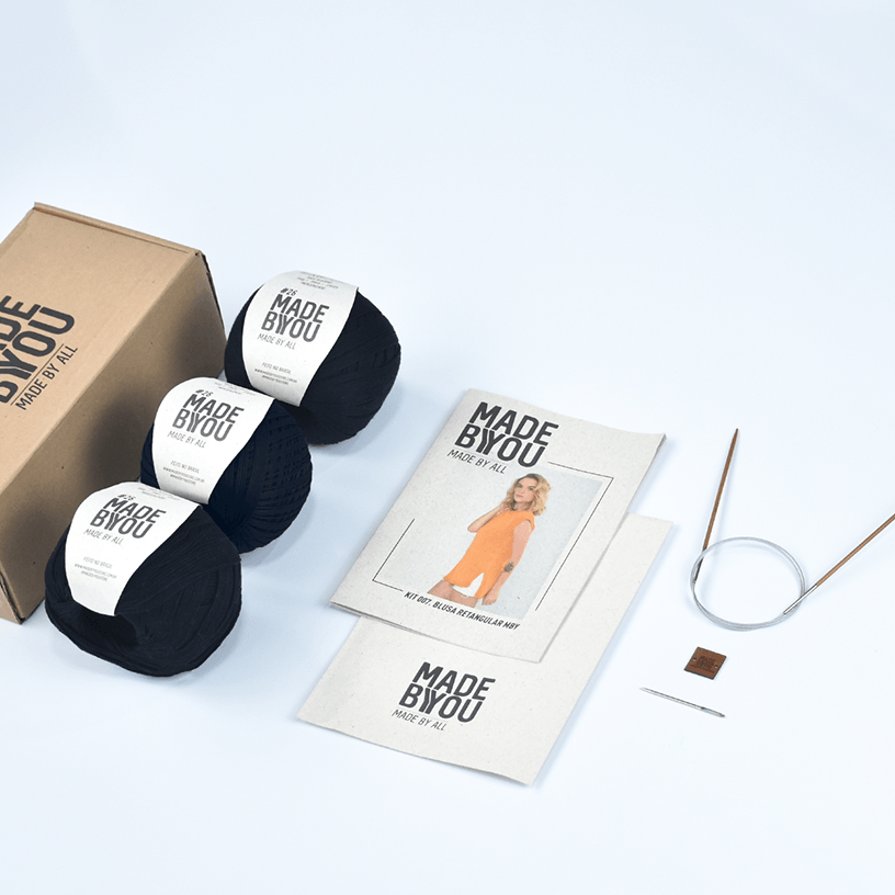 Kit Blusa Retangular Vegan Made by You