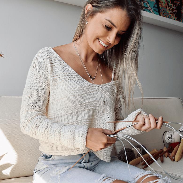 Kit Blusa Vanilla  Woolhool para Made By You