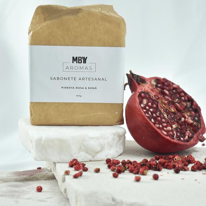 Sabonete 100% Vegetal Pimenta Rosa e Romã - Aromas Made By You