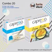 Combo Gourmet 20 Capsulas Crème Brûlée e Leite Cream