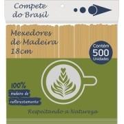 Mexedor de Madeira 18cm  Drinks e Sucos ( Pacote 500 unidades )