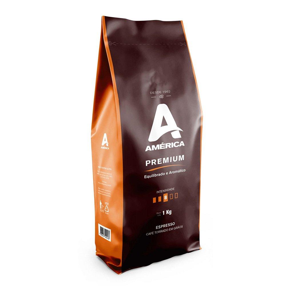 Café Torrado grão América Premium 1kg