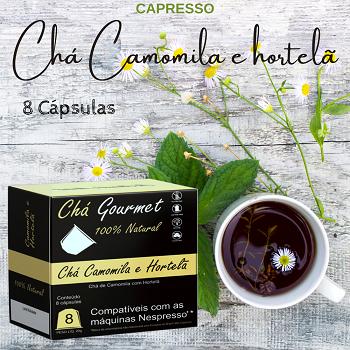 Cápsula Chá de Camomila com hortelã 8 Unidades