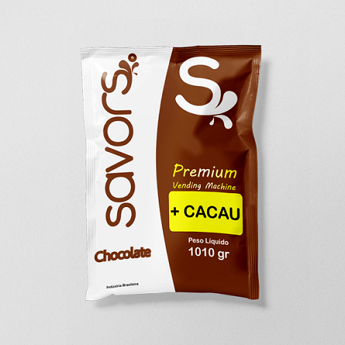 Chocolate + Cacau Savors 1 Kg Para Vending Machines