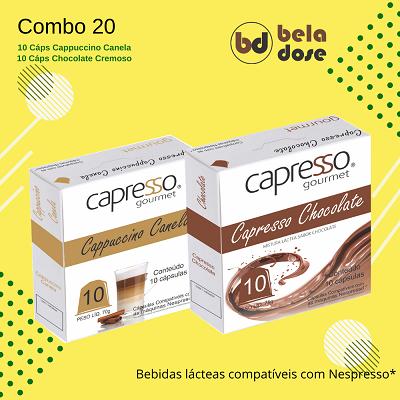 Combo Gourmet 20 Capsulas Chocolate e Cappuccino