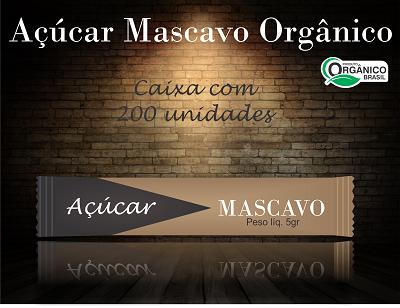 Sachê de Açúcar Mascavo Orgânico 5gr. ( Cx. com 200 )